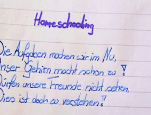 "Corona-Gedicht ""Homeschooling"""