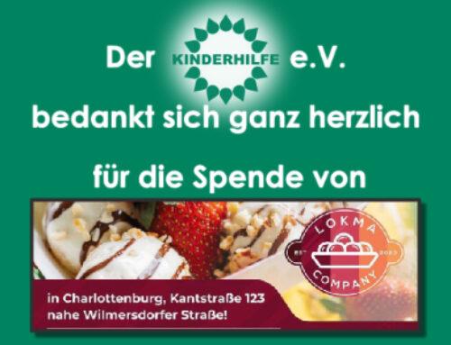 Spende von der Lokma Company Berlin