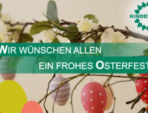 Der Kinderhilfe e.V. wünscht allen eine frohe Osterzeit!
