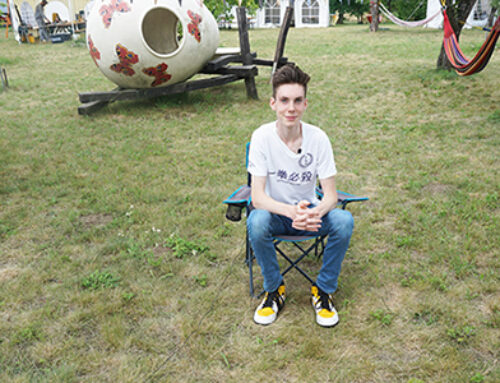 Interview mit Mattheo auf der Obstwiese