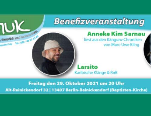 KINDERHILFE e.V. Benefiz am 29. Oktober 2021 – mit Anneke Kim Sarnau und Larsito